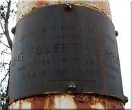 NS3875 : Plaque on Bruce's Flagstaff by Lairich Rig