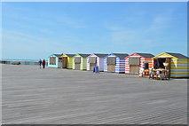 TQ8109 : Colourful shops, Hastings Pier by N Chadwick