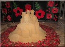 TA0339 : Sand  sculpture  Beverley  Minster  Remembrance  2018 by Martin Dawes