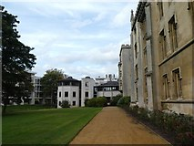 TL4458 : New and old buildings at St John's College, Cambridge by David Smith