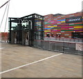 ST3187 : Upper Level lifts, Friars Walk, Newport by Jaggery