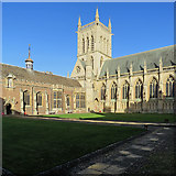 TL4458 : St John's College: First Court, Hall and Chapel by John Sutton