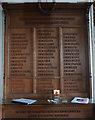 TG2440 : WW1 & 2 memorial plaque by Ian S
