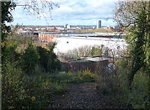 SK5802 : View across the Leicester skyline by Mat Fascione