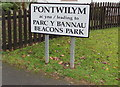 SO0429 : Pontwilym name sign, Brecon by Jaggery