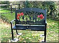 TG3109 : Commemorative bench by Evelyn Simak