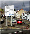 SS6697 : Directions sign at the edge of a major junction in Swansea by Jaggery