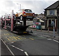 SS6697 : Cars in transit, Neath Road, Swansea by Jaggery