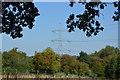 TQ0993 : Pylon by Hampermill Lake by N Chadwick