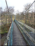 NJ1929 : Footbridge over the River Livet by Anne Burgess