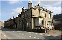 SE0125 : Buildings on south side of Burnley Road by Roger Templeman