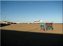 TG5307 : View to the Britannia Pier from the Marina Centre by Evelyn Simak