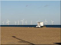 TG5307 : Wind turbines at Scroby Sands by Evelyn Simak