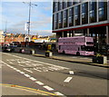 ST3088 : Pink double-decker bus, Queensway, Newport by Jaggery
