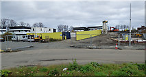NS4865 : Building site compound on Mosslands Road by Thomas Nugent