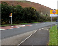 SS9389 : From 40 to 30 on Cemetery Road, Ogmore Vale by Jaggery