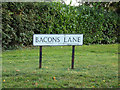 TL8927 : Bacons Lane sign by Adrian Cable