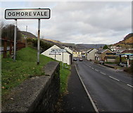 SS9389 : Ogmore Vale name sign by Jaggery