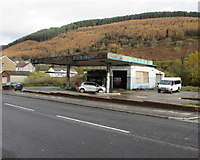 SS9389 : Derelict former fuel filling station and shop in Ogmore Vale by Jaggery