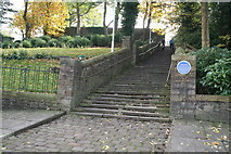 SD8913 : Rochdale: Church Steps by Dr Neil Clifton
