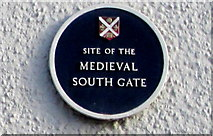 SO3014 : Site of the medieval South Gate, Cross Street,  Abergavenny by Jaggery