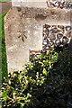 SU7274 : Benchmark on St John the Baptist's Church, Gosbrook Road by Roger Templeman
