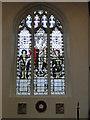 TF6219 : War Memorial north window in King's Lynn All Saints church by Adrian S Pye