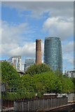 TQ3778 : Chimney on Isle of Dogs by N Chadwick