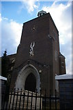 TQ2487 : Tower of the former parish church of St Michael, Golders Green by Christopher Hilton