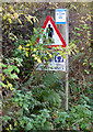 NS4067 : Renfrewshire Leisure Lanes sign by Thomas Nugent