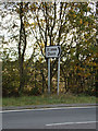 TL8923 : Roadsign on the A120 Coggeshall Road by Adrian Cable