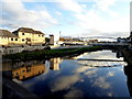 H4572 : Cloud and sky reflections on the Strule, Omagh by Kenneth  Allen