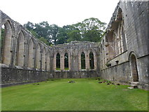 SE2768 : The refectory at Fountains Abbey by Marathon