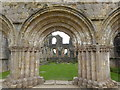 SE2768 : View through to the Chapter House, Fountains Abbey by Marathon