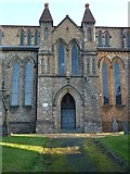 SO1091 : North porch, St David's Church, Newtown by Penny Mayes