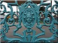 SO9421 : Detail of ironwork on the bandstand by Philip Halling