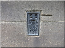 SE1632 : OS Flush Bracket S0894, City Hall, Bradford by Stephen Armstrong