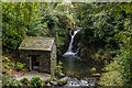 NY3606 : The Grot, Rydal Hall, and Lower Fall, Rydal Beck by Ian Capper