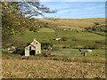 NY8638 : Farmland east of Ullsfield Plantation by Mike Quinn