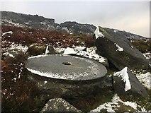 SK2681 : Abandoned millstones below Burbage Edge by Graham Hogg