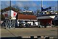 SU4908 : Cafe surrounded by boats at Universal Marina by David Martin