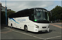 SX9164 : Scottish coach, Torquay coach station by Derek Harper