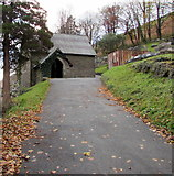 SS9389 : Pwllypant Cemetery chapel, Ogmore Vale by Jaggery