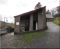 SS9389 : Pwllypant Cemetery public toilets, Ogmore Vale by Jaggery