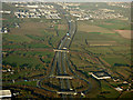 O1843 : The M1 motorway from the air by Thomas Nugent