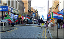 NS2776 : Flags on West Blackhall Street by Thomas Nugent