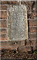NX9925 : Old milestone embedded in the wall of Eller Bank by Roger Templeman