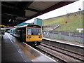 SO1500 : Penarth train in Bargoed railway station by Jaggery
