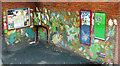 SX9292 : Mural, Exeter bus station by Derek Harper
