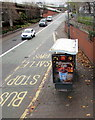 ST3089 : Millionaire's Latte advert on a Malpas Road bus shelter, Crindau, Newport by Jaggery